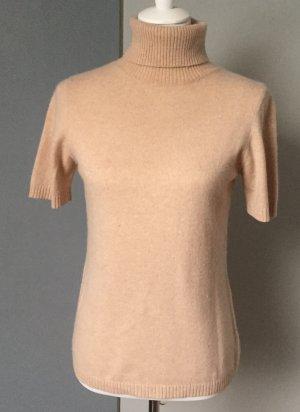 Sweater met korte mouwen nude-camel Wol