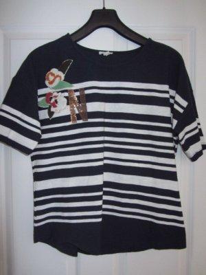 Esprit Stripe Shirt dark blue-white cotton