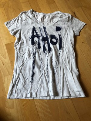 Handmade Print Shirt natural white-dark blue