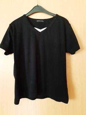Kurzarmshirt mit Einsatz Größe M schwarz