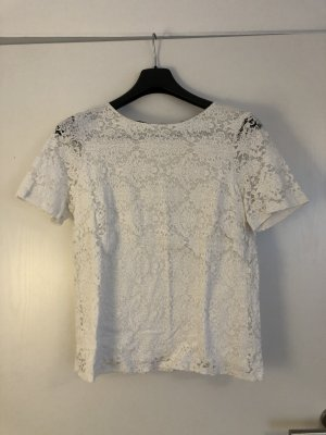Esprit Top di merletto bianco
