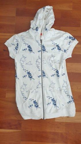 Keine Marke Camicia con cappuccio bianco-blu acciaio
