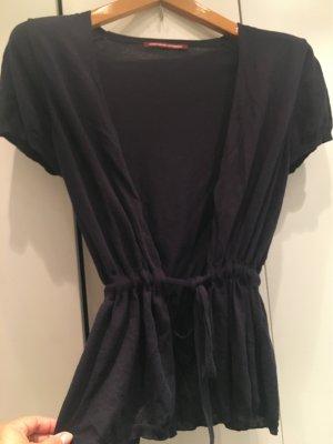 Comptoir des Cotonniers Short Sleeve Knitted Jacket dark blue