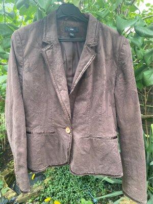 H&M Short Blazer brown-cognac-coloured