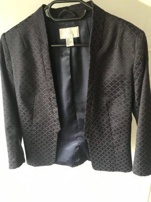 H&M Korte blazer zwart-donkerpaars