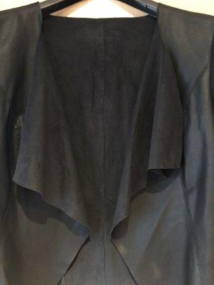 Kurzblazer aus Leder ohne Verschluss