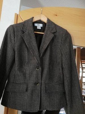 Blazer de lana marrón claro-marrón oscuro