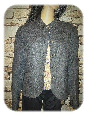 SJ Collection Blazer Boyfriend gris oscuro-gris tejido mezclado