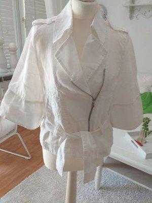 Armani Jeans Blazer court blanc lin
