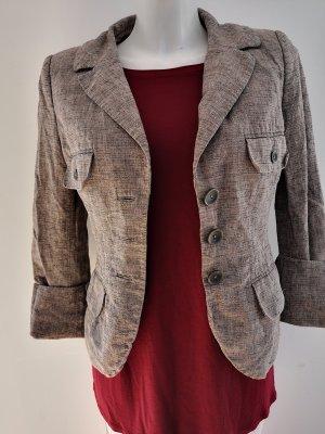 H&M Korte blazer lichtbruin-bruin