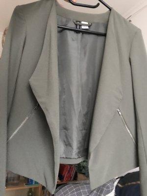Kurzblazer mit Reißverschluss-Taschen