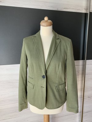 Oui Jersey Blazer green grey