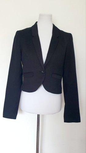 Kurzblazer schwarz Basic Kleiderschrank Musthave Gr 40 42