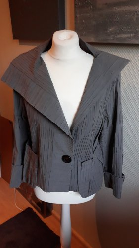 ABSOLUT Short Blazer dark grey mixture fibre