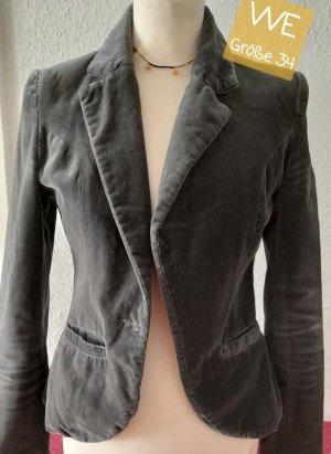 Blazer boyfriend gris-argenté tissu mixte