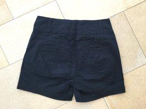 5 Preview Pantaloncino a vita alta blu-blu scuro Tessuto misto