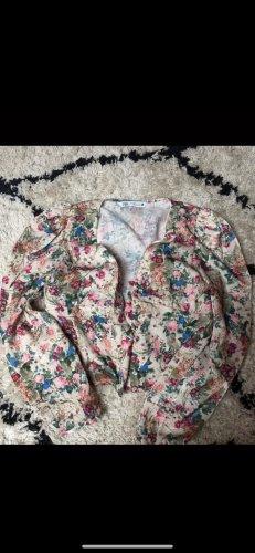 Kurze Blumenbluse Zara