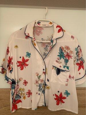 Pull & Bear Blusa de manga corta multicolor Algodón