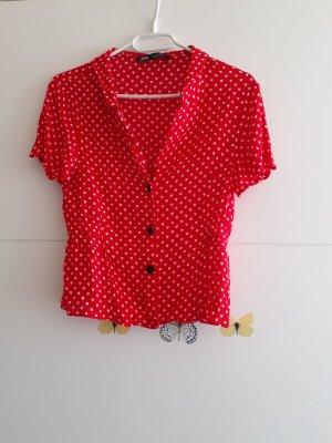 Kurze Bluse mit Herz-Muster - Zara