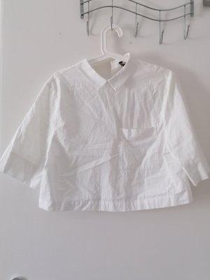 Kurze Bluse mit Kragen