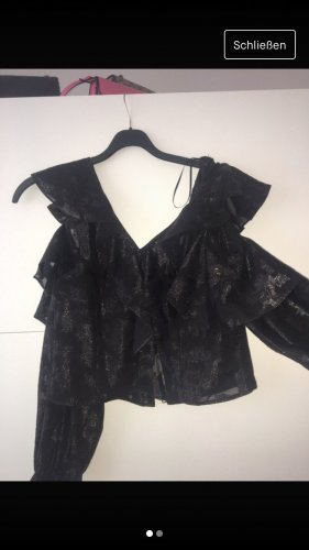 Kurze Bluse mit Muster