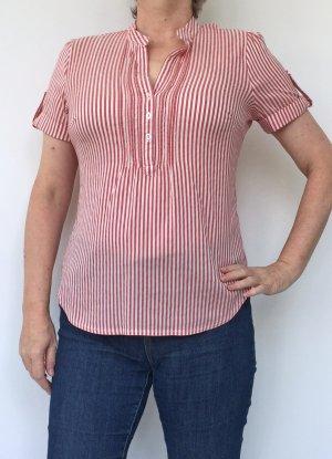 kurze Bluse von Yessica, rot-weiß gestreift, Größe 38