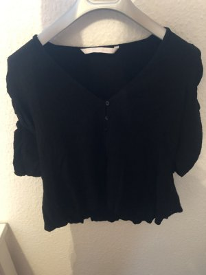 Zara Blouse en crash noir