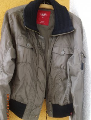 edc by Esprit College Jacket olive green-black polyester