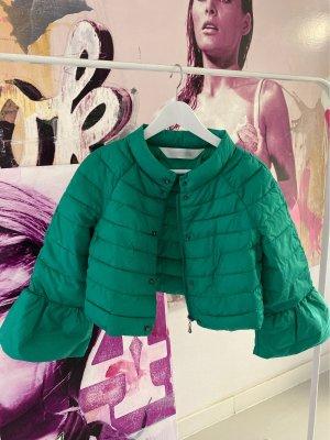 Kurze Crop-Jacke mit ausgestellten Ärmeln grün, modern
