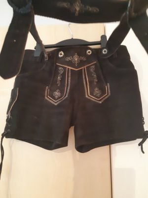 keine ahnung Traditional Leather Trousers brown