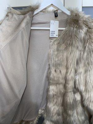 H&M Futrzana kurtka Wielokolorowy