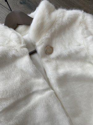 Chaqueta de piel blanco