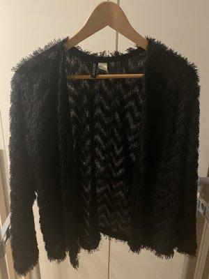 H&M Divided Veste en fourrure noir