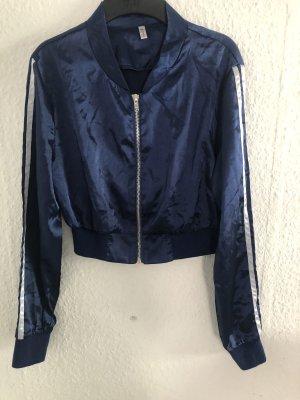 Fleece Jackets dark blue-white