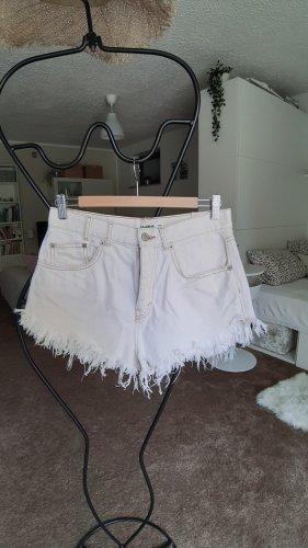 Pull & Bear Spodenki w kolorze białej wełny Bawełna