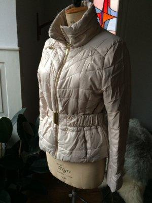 Kurze gefütterte Jacke, edel, sportlich, 1 x getragen, goldene Details, Gr. 38