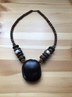 Kurze Große Holzkette Halskette Halsschmuck Modeschmuck