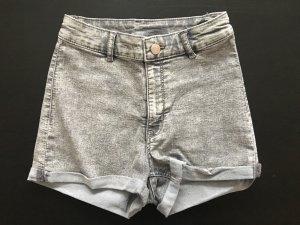 kurze high waist jeanshose von h&m