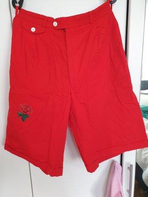 Pantalon 3/4 rouge