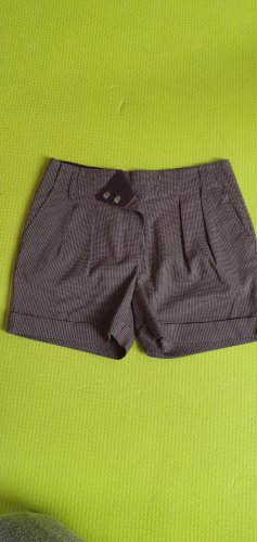 Yaya Pantaloncino a vita alta marrone scuro-crema