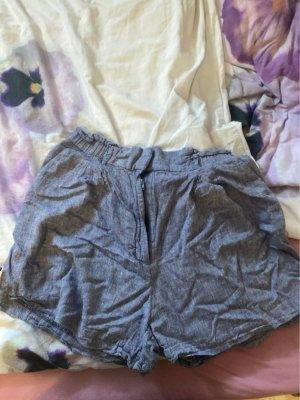 H&M Linen Pants slate-gray-cornflower blue