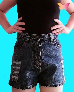 Cherry Denim Shorts blue