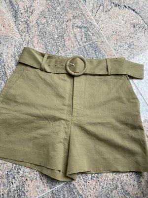 Zara Short taille haute vert olive