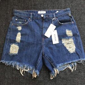 Guess Pantaloncino di jeans blu-blu scuro