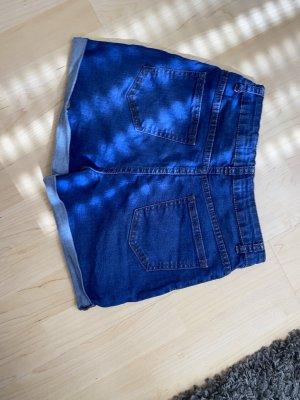 Pantalon taille haute bleu