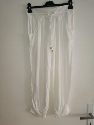 H&M Pantalon capri blanc viscose