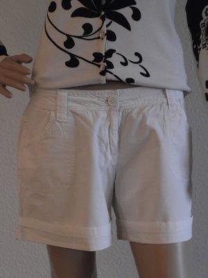 Bermudas white cotton