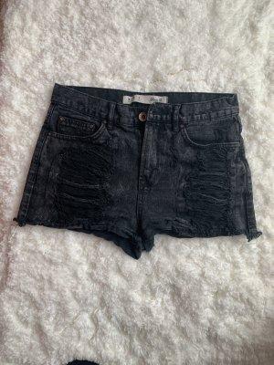 Denim Co. Pantalón corto de tela vaquera negro-gris