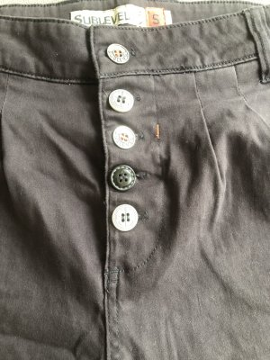 Sublevel Pantalón corto de tela vaquera gris pizarra