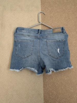 Pantalón corto de talle alto azul
